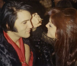 Arriving for a New Year's Eve party in Memphis on December 31, 1969