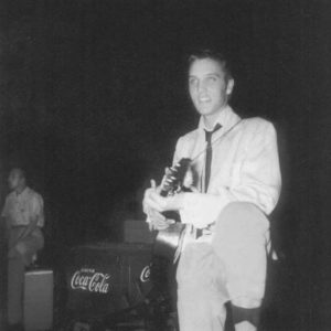Backstage at the Overton Park Shell Friday, July 30, 1954