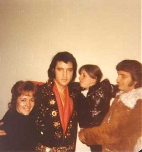 Backstage in Boston with Canadian fans and Concert West promoter Tom Hulett on November 10, 1971 2