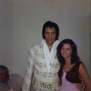 June 30, 1973 - Elvis and Wanda Davis Backstage Before His Evening Show - Omni Coliseum - Atlanta, Georgia-1