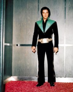 Taking the elevator and in the hallway near his dressing room in Las Vegas August 1971 1