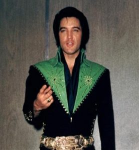 Taking the elevator and in the hallway near his dressing room in Las Vegas August 1971 3