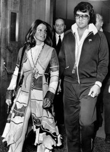 Elvis and Priscilla Presley shown as they leave Santa Monica, Calif., Superior Court Oct. 9, 1973.