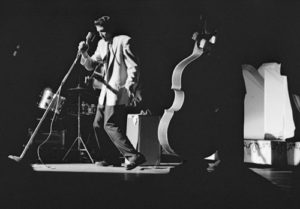 Detroit, Michigan, USA --- Elvis Presley in concert at the Fox Theater, Detroit, Michigan, May 25, 1956. --- Image by © Phillip A. Harrington/Corbis