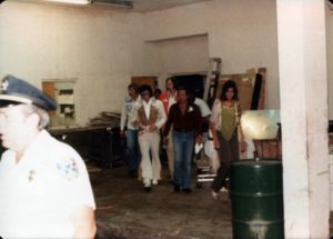 Heading to perform via the hotel back entrance in Macon, GA on June 1, 1977 1