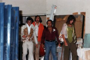 Heading to perform via the hotel back entrance in Macon, GA on June 1, 1977 2