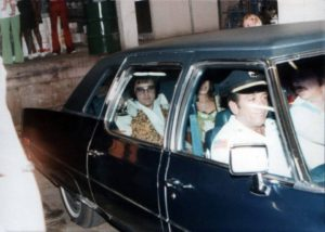 Heading to perform via the hotel back entrance in Macon, GA on June 1, 1977 5