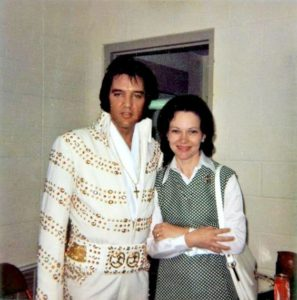 June 30, 1973 - Elvis and Governor Jimmy Carter and wife Roselyn Backstage Before His Evening Show - Omni Coliseum - Atlanta, Georgia-1