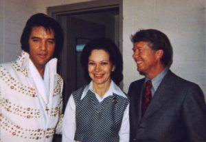 June 30, 1973 - Elvis and Governor Jimmy Carter and wife Roselyn Backstage Before His Evening Show - Omni Coliseum - Atlanta, Georgia-2