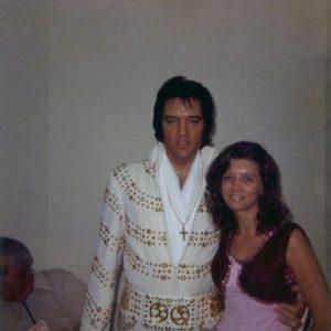 June 30, 1973 - Elvis and Wanda Davis Backstage Before His Evening Show - Omni Coliseum - Atlanta, Georgia-1