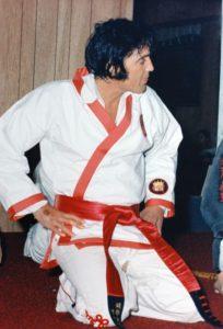 September 1974 Elvis At Kang Rhee's Studio at 1911 Poplar in Memphis-1