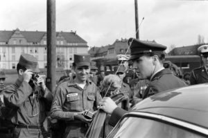 Not published in LIFE. Sgt. Elvis Presley prepares to leave Germany, March 1960.